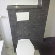 Nieuwe badkamer en toilet Cascademuur in Houten